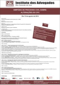 Programação completa Simpósio de Processo Civil