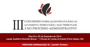 Congresso Questões Polêmicas Direito Tributário